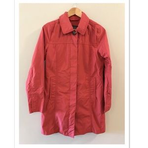 Eddie Bauer Pleated Jacket Trench Coat Small